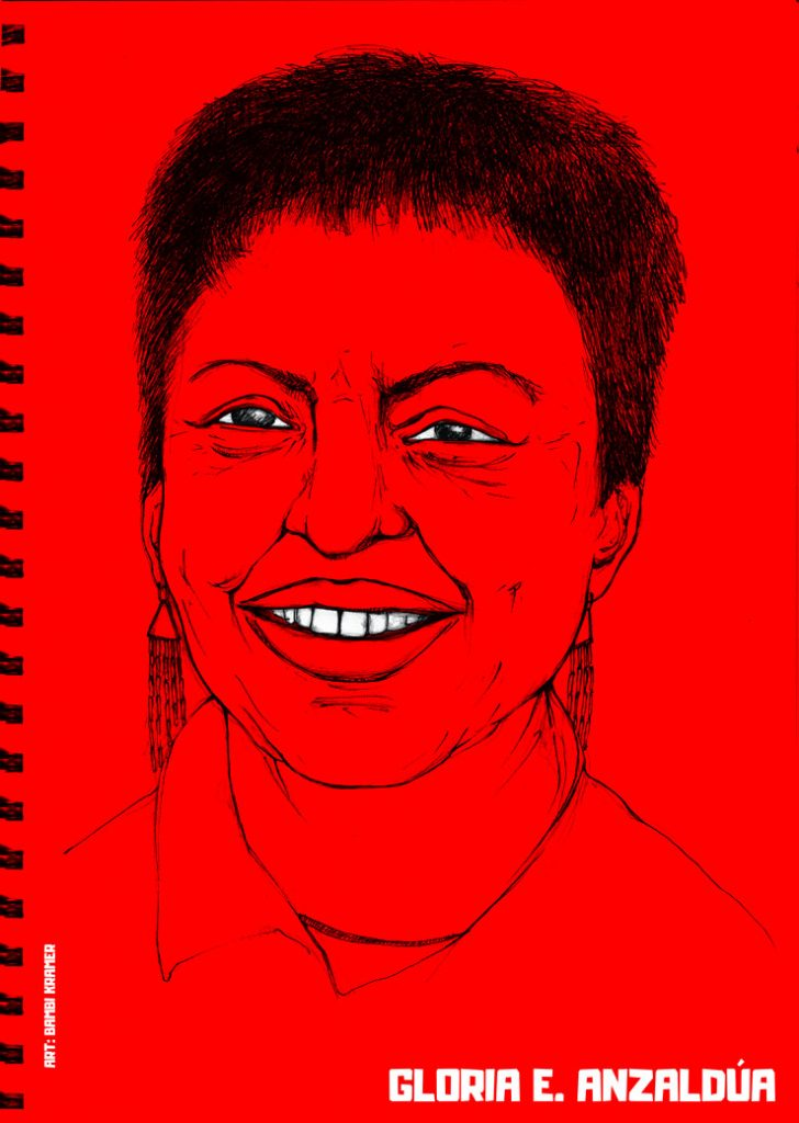 Bmbi Kramer' portrait of Gloria Anzaldùa